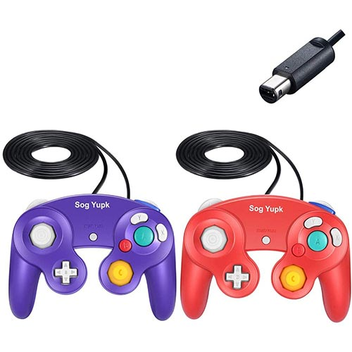 Best Third Party Gamecube Controllers 6. Gamecube Controller, 2 Pack -SogYupk Wired Controllers Classic Gamepad Joystick for Nintendo and Wii Console Game Remote