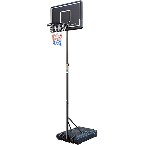 8. aokung Portable Basketball Hoop & Goal Basketball System Height Adjustable 6.2-8.5ft with 42 Inch Backboard and Wheels for Youth Kids Indoor Outdoor Use